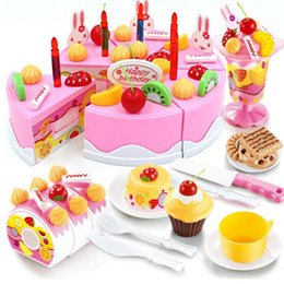 $enCountryForm.capitalKeyWord Canada - 38-75Pcs DIY Pretend Play Fruit Cutting Birthday Cake Kitchen Food Toys Cocina De Juguete Toy Pink Blue Girls Gift for Children