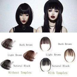 Wholesale Clip In Bangs 100% Real Natural Human Hair Extension Hand Tied Neat Dark brown fringe Bangs
