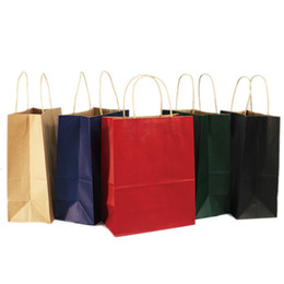 $enCountryForm.capitalKeyWord UK - 10 Colors Kraft Paper Bag Brown Paper Festival Gift Bag Paper Shopping Bag Food Packing Bags