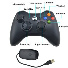 Xbox Controller Wireless For Pc NZ - 2.4G Wireless Controller For Microsoft Xbox 360 Gamepad With PC Wireless Receiver Remote Controle For Xbox 360 Game Joystick