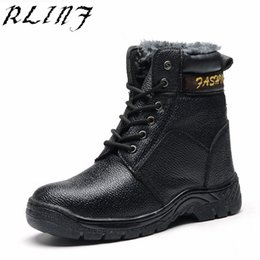 warming oils 2019 - RLINF High-top Plus Velvet Warm, Anti-mite, Puncture, Oil-resistant Acid and Alkali Protective Shoes cheap warming oils