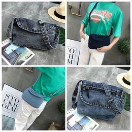 Discount cowboy shoulder bag - Women Retro Shoulder Bag Persoanl Demin Flap Cover Cross body Bag Ladies Zipper Cowboy Phone Waist Bag DDA645