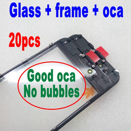 $enCountryForm.capitalKeyWord NZ - 20pcs cold press Front Glass+frame+oca For iPhone 6 6s plus Outer Glass with Bezel Frame with oca lcd repair part best quality