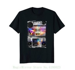ca85d8069a3 Retro Stereo Boom Box Vintage Music Player T-shirt Male Best Selling T Shirt