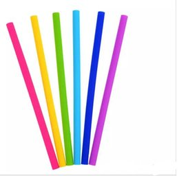 Colorful disposable Cups online shopping - colorful silicone straws for cups food grade cm silicone straight bent straws for bar home drinking straws
