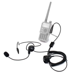 Discount kenwood pin headset - 2 Pin Earpiece Mic Finger PTT Headset for Kenwood BAOFENG UV-5R 777 888s Top MD
