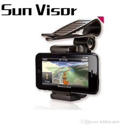 $enCountryForm.capitalKeyWord Canada - Car Sun Visor Shade Shield Phone Clip Holder Mount For iPhone X 8 7 Samsung GPS 360 Degree Rotating