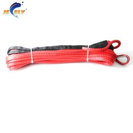Winches For Atv Canada - 10mmx40' 16534lbs 12 weave UHMWPE winch rope Synthetic fiber Cord for ATV UTV SUV 4X4 4WD Off-road