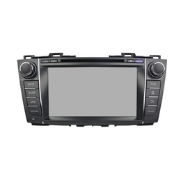 Discount car radio gps mazda Car DVD player for Mazda 5 Premacy 2009-2012 4GB RAM 8Inch Octa-core Andriod 8.0 with GPS,Steering Wheel Control,Bluetoo