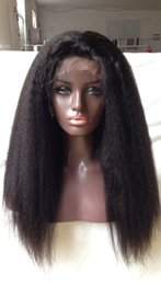 Kinky Peruvian Lace Wig Australia - Full Lace Human Hair Wigs Virgin Peruvian Hair kinky Straight Lace Front Wigs For Black Women Baby Hair Free ship