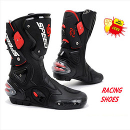 $enCountryForm.capitalKeyWord NZ - (1pair 3colors) Newest Motorcycle Sport Shoes Motocross Cycling Long Boots Off-Road Racing Gears Motorcycle Boots Pro-Biker B001