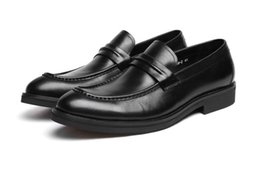 Discount black boat dress shoes mens - New Arrival Luxury Mens Black Dress Shoes Fashion Designer Slip On Business Leisure Leather Boat Shoes Size 37-44 Monk