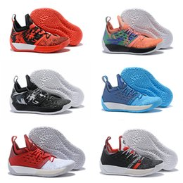 cfd12af1854f 2018 Arrival kids Harden 2 Vol.2 Basketball Shoes black white orange Wolf  Grey James Harden Athletic sneakers Shoes