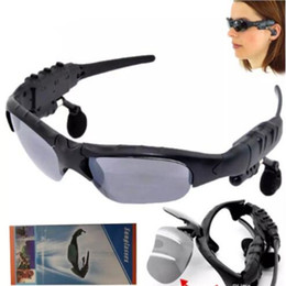 HeadpHones for glasses online shopping - Smart Wireless Bluetooth SunGlasses Google Glass Headset Headphones Handfree For IOS Anroid phones with retail package