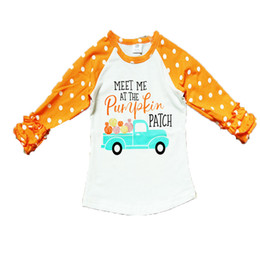 Discount classic car novelties - New Halloween children's shirt baby child baby single clothes lace long sleeve child flower letter car patternT-shi
