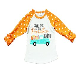 Wholesale New Halloween children s shirt baby child baby single clothes lace long sleeve child flower letter car patternT shirt