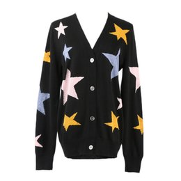$enCountryForm.capitalKeyWord UK - New Autumn Spring Women Sweater Cardigans Casual Warm Design Female Knitted Sweater Pentagram Printed Cardigan Lady