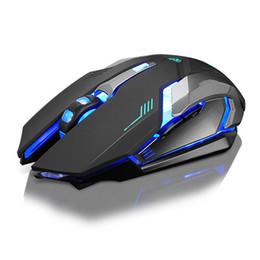 Recargable X7 Inalámbrico LED Retroiluminación Óptica USB Ergonómico Gaming Mouse Sem Fio Moda Computadora Juegos Mouse Para Pro Gamer en venta