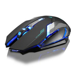 Rechargeable X7 Wireless LED Backlight USB Optical Ergonomic Gaming Mouse Sem Fio Fashion Computer Games Mouse For Pro Gamer на Распродаже