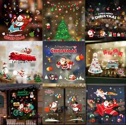 christmas decorations stores online shopping removable cling decals cute snowman snowflake party decoration static store