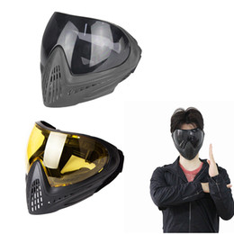 full protective paintball mask 2019 - FMA F1 Tactical Anti-fog Safety Goggle Full Face Mask Paintball Resistance Protective Eyewear Mask Accessory discount fu