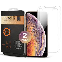 tempered glass iphone retail pack 2019 - 2 Pack Screen Protector For iPhone XS MAX XR XS 7 8 PLUS Tempered Glass Protector Film 0.33MM High Quality Screen Protec