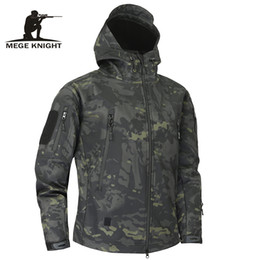 China Mege Shark Skin Soft Shell Military Tactical Jacket Men Waterproof Army Fleece Clothing Multicam Camouflage Windbreakers 4XL Y1892503 supplier multicam camouflage clothing suppliers