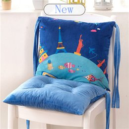 Green Office Chairs Australia - 2018 Lovely Cartoon Conjoined Chair Cushions For Kitchen Seat Cushion For Office Chair Colorful Sofa Pad Multicolor Back Seat Pillow Mat