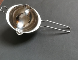 wholesale melting pots Canada - 304 Stainless Steel Double Boiler Universal Insert Fondant Caramel Chocolate Melt Bowl Butter Pot Cheese Pan Heating Baking Tool