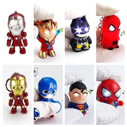 Discount dc figures - LOST WAY Hot  Pendant Key Chain DC Superhero  The Led Keychain Cute Action Figure LED Keyrings