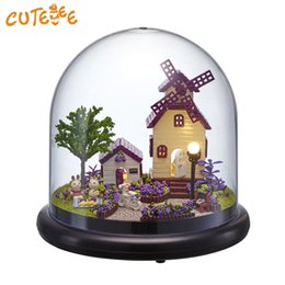 $enCountryForm.capitalKeyWord NZ - CUTEBEE Doll House Miniature DIY Dollhouse With Furnitures Wooden House Provence Toys For Children Birthday Gift B019