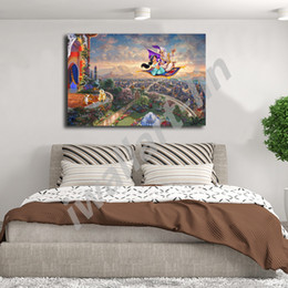 $enCountryForm.capitalKeyWord NZ - Thomas Kinkade Magician A Jasmine HD Painting Wall Art Print On Canvas Living Room Decorative Picture Home Decor