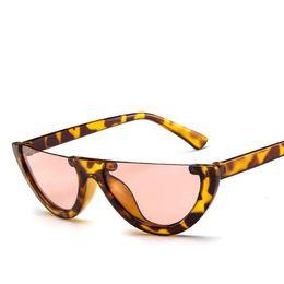1b3dfe203e3 Wholesale- Cheap sun glasses New Personality half frame sunglasses Fashion  Punk Retro sunglasses glasses for Women men