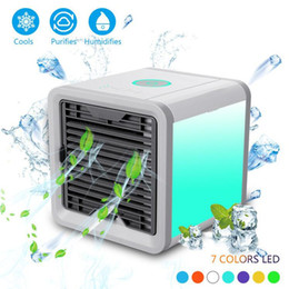 $enCountryForm.capitalKeyWord Australia - Portable Air Conditioner Air Cooler 7colors LED Light Mini Air Personal Space Cooler Quick Easy Way to Cool Home Office Desk Car Styling