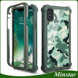 Para iphone xs max 6.5 xr 6.1 polegadas 5.8    8 plus 7 plus mais novo caso  de telefone camuflagem verde rosa camo 360 graus casos de cobertura total 5799b6fe3be