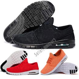 China 2018 Cheap Men Women Fashion SB Stefan Janoski mesh jogging shoes Black Grey Athletic Walking Sports Shoes Sneakers Free Shipping cheap cheap stefan janoski suppliers