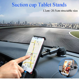 Tablet Stand Suction NZ - Suction cup style tablet stand car holder with 12cm~20.5cm clips 360 degree turning for mobile phone   Tablet PC using at car