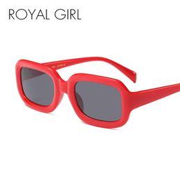 0adc865e0e ROYAL GIRL Small Square Gafas de sol Hombres Mujeres Retro Negro Blanco Red  Frame Gafas de Sol Rectangulares Male Female Shades 2018 ss326