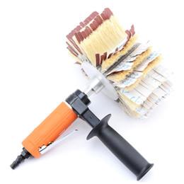 Verbessern Sie pneumatische gerade geformte Poliermaschine-Luftpolierwerkzeug-Möbel-Kabinett-Tür-Holzschnitzerei prägen Schleifmaschine im Angebot