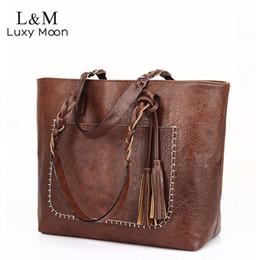 $enCountryForm.capitalKeyWord NZ - Vintage Handbag Women Brown Leather Shoulder Bag Ladies Retro Tote Large PU Handbags bolso 2018 Fashion Big Black Bags XA540D D18102303