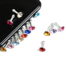 Iphone 4s Jack Plugs UK - 2000pcs lot Diamond Dust Plug Universal 3.5mm Cell phone plug charms cap For iphone 4s 5s 5c samsung note 3 S4 ipad mini dp03