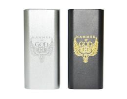 Hammer mecHanical online shopping - E Cigarette Hammer of God V3 Box Mod Powerful Vaporizer Mechanical Vape Mods Electronic Cigarette for RTA RDTA RDA Atomizer eCig