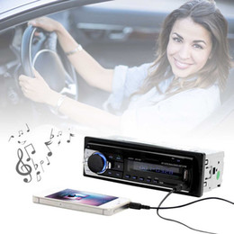 Wav Audio Music Australia - 2PCS MP3 Bluetooth Car MP3 WMA WAV Player Remote Control Multimedia FM Receiver Radio Stereo Audio Music USB With Digital Screen