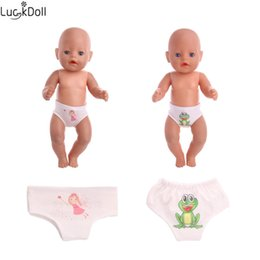 toy panties 2019 - Luckdoll sells baby panties for 18 inch American girl dolls or 43-centimeter baby ZAPF favorite doll accessories cheap t