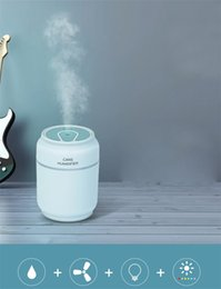 $enCountryForm.capitalKeyWord NZ - New 3 in 1 USB Cans Shape Air Humidifier 200ml 7 Color LED Lighting Aroma Essential Oil Diffuser mist maker fogger with Mini USB Fan
