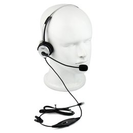 Call Center phones online shopping - 4 Pin Call Center Monaural Office Phone Headset Coiled Cable RJ9 Plug for walkie talkie Avaya Mitel Nortel ROLM C2158D Fshow