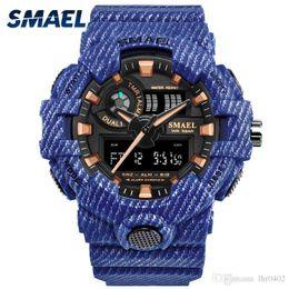 $enCountryForm.capitalKeyWord Australia - SMAEL Sport Watch Fashionable White Men Watches Dual Time Digital LED Wristwatches 8011 Watcn Men Waterproof Men Watches