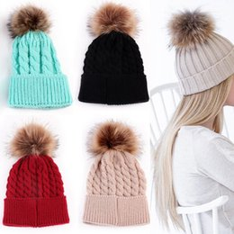baby beanies NZ - 1Pc Fashion Candy Colors Mom or Baby Knitting Keep Warm Hat Women Winter Hat Family Matching Outfits Mom Baby Hats Y18110503