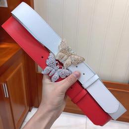 fd7de829706 Men leather color belts online shopping - Crystal butterfly G buckle for  women cm belts variety