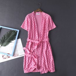 f1884da751 Waffle Bathrobe Kimono Robe Dressing Gowns for Women Bath Robe Home Clothes Summer  Sleepwear